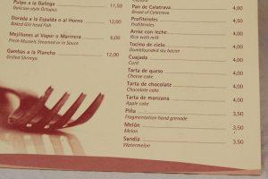 При превод на меню в ресторант или кафене се изискват определени специфични познания и умения от страна на преводача